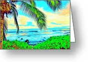 Mango Greeting Cards - Poipu Sunrise Greeting Card by Dominic Piperata