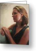 Backlit Painting Greeting Cards - Poise Greeting Card by Anna Bain
