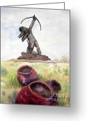 Sculptors Greeting Cards - Poised for Perfection Greeting Card by Vicki  Housel