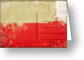 Backside Greeting Cards - Poland flag postcard Greeting Card by Setsiri Silapasuwanchai