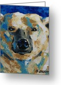 Bears Painting Greeting Cards - Polar Bear Greeting Card by Christine Karron
