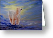 Polar Bear Greeting Cards - Polar Bear Greeting Card by Joanne Smoley
