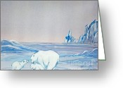 Mound Painting Greeting Cards - Polar Ice Greeting Card by Terri Mills