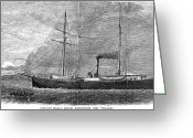 Polaris Greeting Cards - Polaris Expedition, 1871 Greeting Card by Granger
