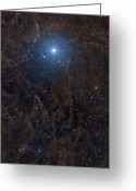 Molecular Clouds Greeting Cards - Polaris Surrounded By Molecular Clouds Greeting Card by John Davis