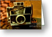 Slr Greeting Cards - Polaroid Land Camera Model 100 . 7D13289 Greeting Card by Wingsdomain Art and Photography