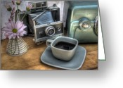 Camera Greeting Cards - Polaroid perceptions Greeting Card by Jane Linders