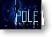 Music Teacher Greeting Cards - PoleDancing Greeting Card by Graphicsite Luzern