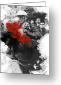 Civil Rights Digital Art Greeting Cards - Police Brutality Greeting Card by Neal Fox