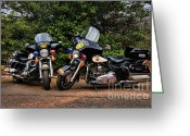 Law Enforcement Greeting Cards - Police Motorcycles Greeting Card by Paul Ward