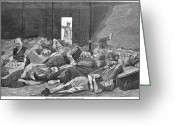 Winslow Homer Greeting Cards - Police Station Lodgers Greeting Card by Granger