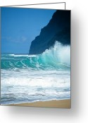 Sky Studio Greeting Cards - Polihale Beach  Greeting Card by Kevin Smith