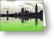 Lime Digital Art Greeting Cards - Political envy Greeting Card by Sharon Lisa Clarke