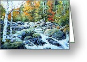 Landscape Painter Greeting Cards - Polliwog Clearing Greeting Card by Hanne Lore Koehler
