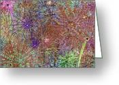 4th July Digital Art Greeting Cards - Polychromatic Jungle Greeting Card by Gregory Scott