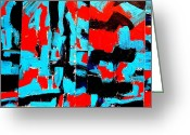 Polyptych Greeting Cards - Polyptych   II Greeting Card by John  Nolan