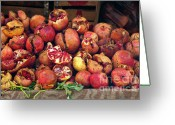 Souk Greeting Cards - Pomegranates Greeting Card by Marion Galt
