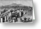 Excavation Greeting Cards - Pompeii: Excavation, 1880 Greeting Card by Granger