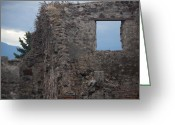 Italia Greeting Cards - Pompeii Window Greeting Card by Steven Gray
