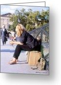 Glenn Mccurdy Greeting Cards - Pont Des Arts Paris 1963 Greeting Card by Glenn McCurdy