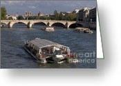 Ile De France Greeting Cards - Pont du Carroussel. Paris. France Greeting Card by Bernard Jaubert