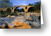 Nature Body Greeting Cards - Pont Julien. Luberon. Provence. France. Europe Greeting Card by Bernard Jaubert