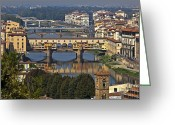 Florence Greeting Cards - Ponte Vecchio - Florence Greeting Card by Joana Kruse