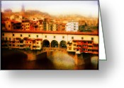 Li Van Saathoff Greeting Cards - Ponte Vecchio Greeting Card by Li   van Saathoff