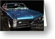 Cars Greeting Cards - Pontiac GTO 2 Greeting Card by Wingsdomain Art and Photography