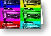 Vehicles Digital Art Greeting Cards - Pontiac GTO Six Greeting Card by Wingsdomain Art and Photography