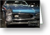 Racecars Greeting Cards - Pontiac GTO Greeting Card by Wingsdomain Art and Photography