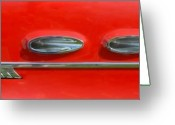 Red Lines Greeting Cards - Pontiac Rocket Ship L Greeting Card by Bill Kellett