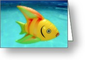 Water Swimming Pool Greeting Cards - Pool Toy Greeting Card by Tony Grider