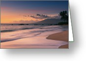 Pacific Greeting Cards - Poolenalena Beach At Sunset Greeting Card by Proframe Photography