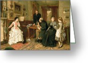 Family Time Greeting Cards - Poor Relations Greeting Card by George Goodwin Kilburne