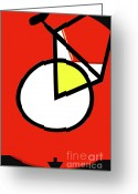 Urbano Greeting Cards - Pop Art Bike Greeting Card by adSpice Studios