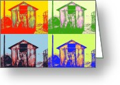 Shed Photo Greeting Cards - Pop Art Shed Greeting Card by Philip Sweeck