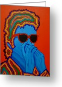 Singer Songwriter Greeting Cards - Pop Dylan Greeting Card by Pete Maier