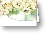 Overflowing Greeting Cards - Popcorn and movie  Greeting Card by Blink Images