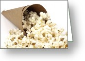 Overflowing Greeting Cards - Popcorn in paper cone Greeting Card by Blink Images