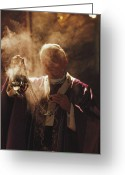 Latium Region Greeting Cards - Pope John Paul Ii Incenses The Altar Greeting Card by James L. Stanfield