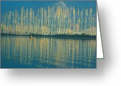 Equilibrium Greeting Cards - Poplars in late autumn sunlight Greeting Card by Anonymous