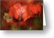 Flower Greeting Card Greeting Cards - Poppies Of Summer Greeting Card by Carol Cavalaris