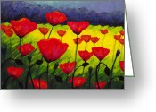Giclees Greeting Cards - Poppy Corner III Greeting Card by John  Nolan