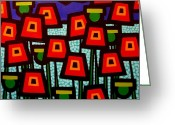 Artist Studio Greeting Cards - Poppy Field Greeting Card by John  Nolan