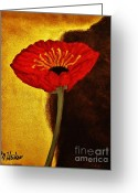 Wrap...floral Greeting Cards - Poppy l Greeting Card by Marsha Heiken