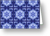 Blue Quilts Greeting Cards - Porcelain Greeting Card by Tracy Pierceall