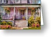 Grammy Greeting Cards - Porch - Cranford NJ - Grandmotherly love Greeting Card by Mike Savad