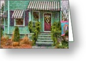 Friends Greeting Cards - Porch - Westfield NJ - Welcome Friends Greeting Card by Mike Savad