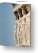 Greek Sculpture Greeting Cards - Porch of the Caryatids Greeting Card by Andrew  Michael